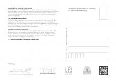 Kartka pocztowa - JAGA-KORA - logo na drzewie - tył