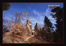 """Kartka pocztowa - Rezerwat skalny """"Prządki"""" - przód"""