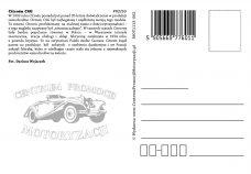 Pocztówka Citroen C4G tył - Historia Motoryzacji