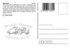 Pocztówka Oldsmobile tył - Historia Motoryzacji
