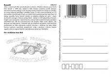 Pocztówka Renault tył - Historia Motoryzacji