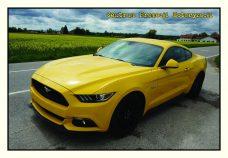 Pocztówka Ford Mustang przód - Historia Motoryzacji