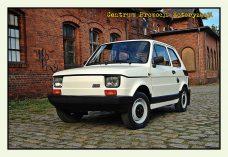 Pocztówka Fiat 126p przód - Historia Motoryzacji