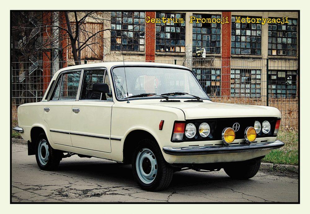 Pocztówka Fiat 125p przód - Historia Motoryzacji