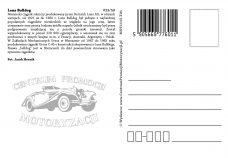 Pocztówka Bulldog tył - Historia Motoryzacji