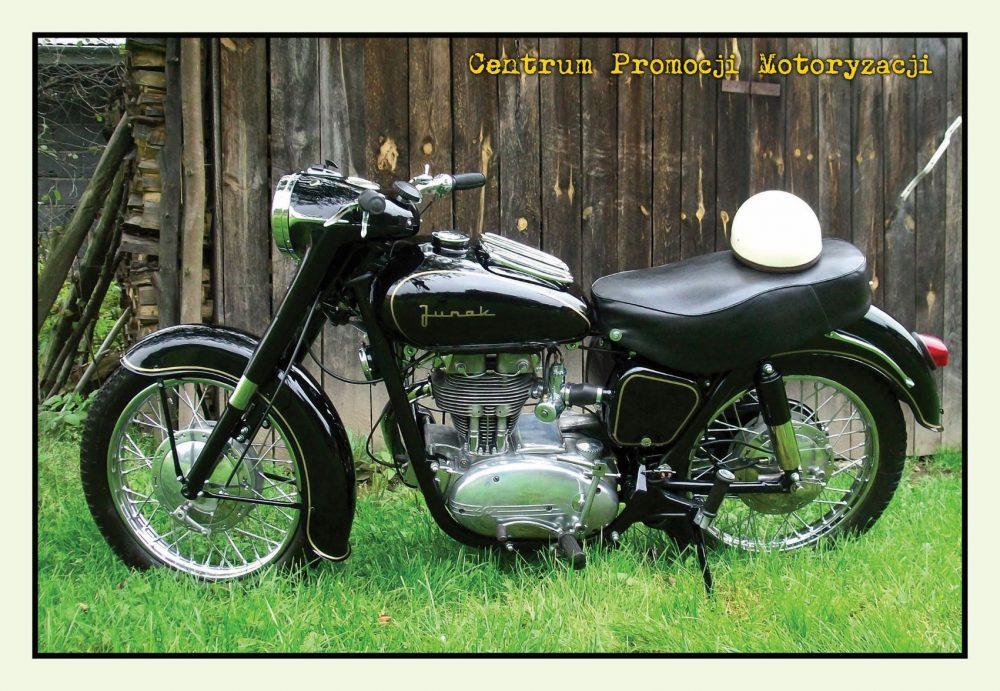 Pocztówka Junak M10 przód - Historia Motoryzacji