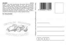 Pocztówka Osa M52 tył - Historia Motoryzacji