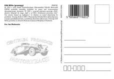 Pocztówka Osa M52a tył - Historia Motoryzacji