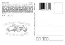 Pocztówka DKW 125 RT tył - Historia Motoryzacji