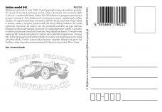 Pocztówka Indian 841 tył - Historia Motoryzacji