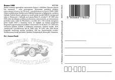 Pocztówka Komar 1960 tył - Historia Motoryzacji