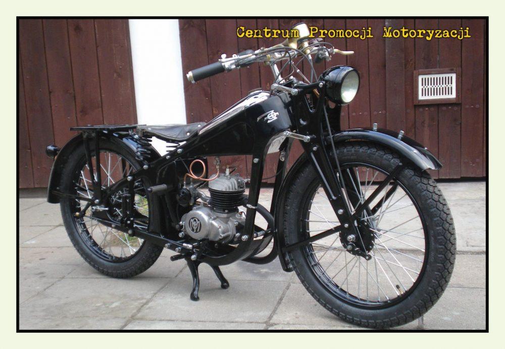 Pocztówka Motocykl Moj 1937 przód - Historia Motoryzacji
