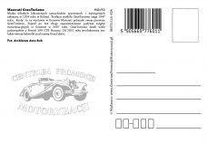 Pocztówka Maserati tył - Historia Motoryzacji