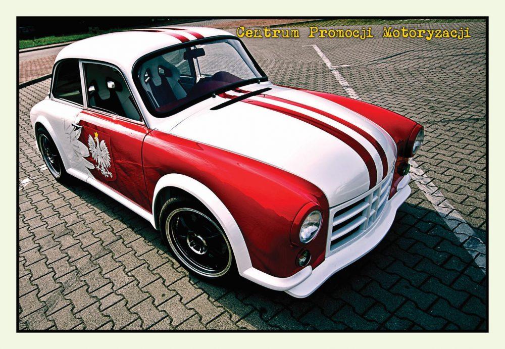 Pocztówka Syrena Euro 2012 przód - Historia Motoryzacji